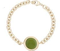 -Armband 925er Silber Glasstein Orange 32015835 Armbänder & Armreifen