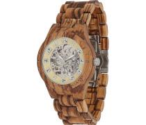-Uhren Analog Automatik One Size Holz 88139186