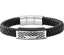 -Armband POZAS Edelstahl, Leder One Size 87857654