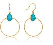 -Ohrhänger Turquoise Front Hoop 925er Silber One Size 87994261