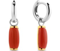 -Ohrhänger 925er Silber Farbstein Rot 32013843