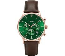 -Uhren Analog Quarz Braun/Grün 32010372