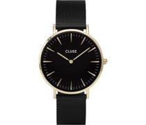 -Uhren Analog Quarz Schwarz/Gold 32011681