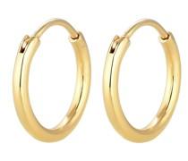 Ohrringe Creolen Ohrhänger Basic Klassiker 375 Gelbgold