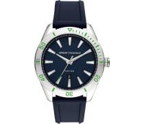-Uhren Analog Quarz Schwarz/Gold Silikon 32000921