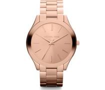 -Uhren Rund Analog Quarz Rosé Edelstahl 32002644