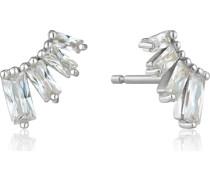 -Ohrstecker Glow Bar Stud Earrings 925er Silber Zirkonia 32014127