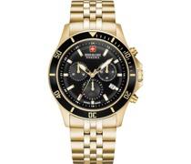 -Uhren Analog Quarz Gold/Schwarz 32011589