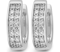 Silver-Creolen 925er Silber 32 Zirkonia One Size 86734877