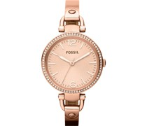 -Uhren Rund Analog Quarz Rosé Rosé Edelstahl 32002992