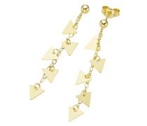 Ohrstecker mit Dreieck - Behängen, Gold 375