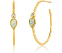 -Creolen Opal Colour Raindrop Hoop 925er Silber One Size 87994287
