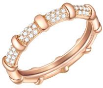 Ring Sterling Silber rosévergoldet Zirkonia weiß
