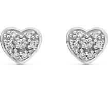 -Ohrstecker 375er Weißgold 14 Diamant One Size 87736237