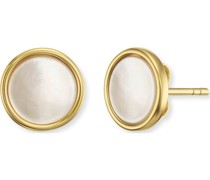 -Ohrstecker 925er Silber rhodiniert 33 Zirkon Perlmutt 32011392