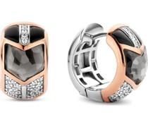 -Creolen 925er Silber Zirkonia One Size 88096525