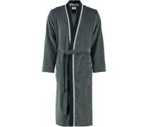Bademantel Kimono 4839 silber/schwarz - 79