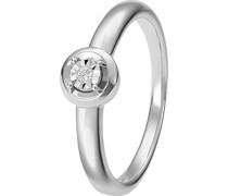 By -Damenring 375er Weißgold 1 Diamant 52 32000534