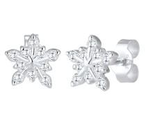 Ohrringe Schneeflocke Winter Zirkonia 925er Sterling Silber
