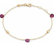 -Armband 375er Gelbgold 3 Rhodolith One Size 87749797