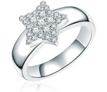 Ring Stern Sterling Silber Zirkonia silber