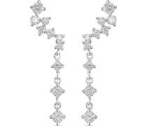 -Ohrstecker 925er Silber 2 Zirkonia One Size 87957241