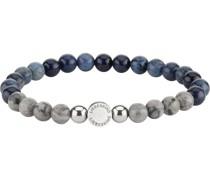 -Armband Stein, Edelstahl, Edelstahl Blau/Silber 32001116