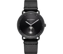 -Uhren Analog Quarz Schwarz/Silber 32010527
