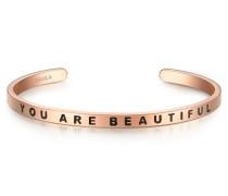 Armband YOU ARE BEAUTIFUL Edelstahl roségold