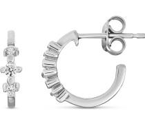 -Creolen 375er Weißgold 6 Diamant One Size 87496244