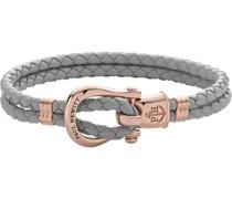 -Armband Female PHINITY SHACKLE Leder/Edelstahl S 32010396