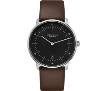 -Uhren Analog Quarz Braun/Schwarz Leder 32011800