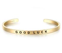 Armband GOOD LUCK Edelstahl gelbgold