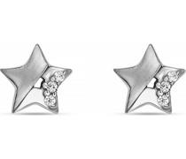 -Ohrstecker 925er Silber rhodiniert 6 Zirkonia One Size 87685152