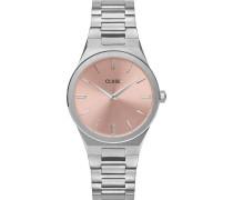 -Uhren Analog Quarz Silber 32012804