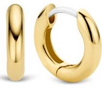 -Creolen 925er Silber Gelbgold 32013840