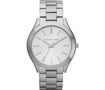 -Uhren Rund Analog Quarz Silber Silber Edelstahl 32002644