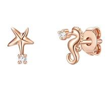 Ohrringe Seepferdchen/Stern Sterling Silber Zirkonia