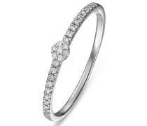 Diamonds-Damenring 375er Weißgold 25 Diamant 50 32004932