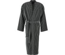 Bademantel Kimono 805 anthrazit - 77