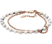 -Armband Edelstahl 1 Glasstein Roségold 32000786
