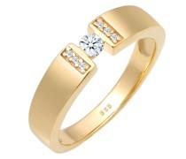 Ring Verlobung Diamant 0.14 ct. 585 Gelbgold