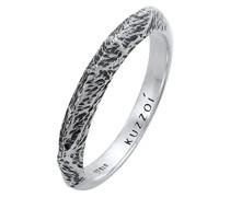 Ring Bandring Schmal Used Look 925 Silber