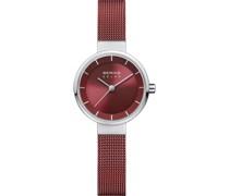 -Uhren Analog Solar Silber 32017006