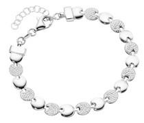 Armband linsenförmige Silberelemente, Silber 925