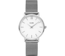 -Uhren Analog Quarz Silberfarben 32011680