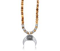 Halskette Halbmond Achat Jasper Look 925er Silber
