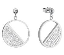 Ohrring für mit funkelnden Swarovski® Kristallen weiß
