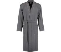 Bademantel Kimono 2605 anthrazit - 753