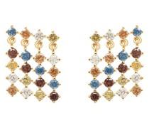 PD Paola-Ohrstecker 925er Silber Saphir One Size 88237781